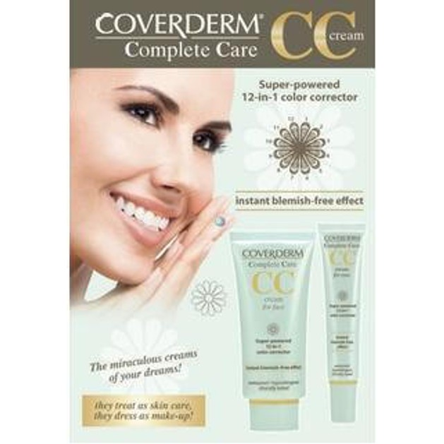 Coverderm Complete Care CC cream for face Spf25  40ml + ΔΩΡΟ CC cream for eyes Spf15 15ml απόχρωση light beige