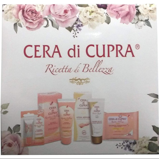 Cera di Cupra Πακέτο Προσφοράς Αντιγηραντική Κρέμα 75ml, Κρέμα Χεριών 75ml, Μαντηλάκια Ντεμακιγιάζ 25τμχ & Lip Balm 10ml