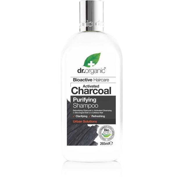 Dr.Organic Charcoal Shampoo Καθαριστικό Σαμπουάν Μαλλιών με Ενεργό Άνθρακα 265ml