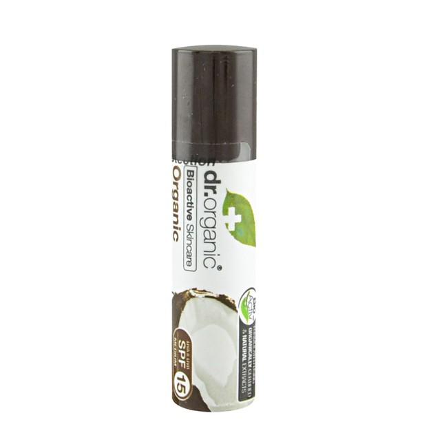 Dr.Organic Lip Balm Χειλιών με Βιολογικό Έλαιο Καρύδας 10ml