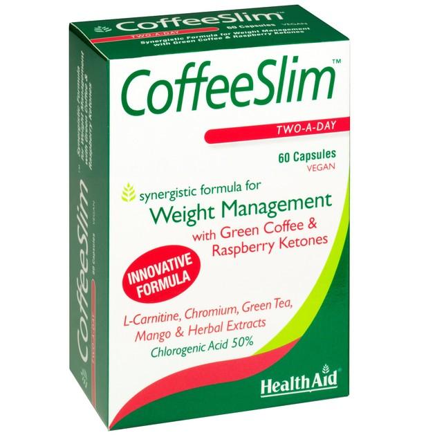HealthAid Coffee Slim για Αύξηση του Μεταβολισμού & των Επιπέδων Ενέργειας 60 Κάψουλες