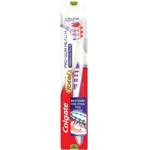 Colgate Total Pro Gum Health Οδοντόβουρτσα Ειδικά Σχεδιασμένη Για Να Καθαρίζει Τα Δυσπρόσιτα Σημεία Του Στόματος Medium