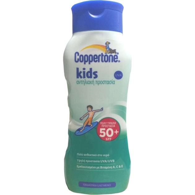 Coppertone Kids Sunscreen Lotion Spf50+ Παιδική Υψηλή Αντηλιακή Προστασία, Πολύ Ανθεκτικό στο Νερό 200ml