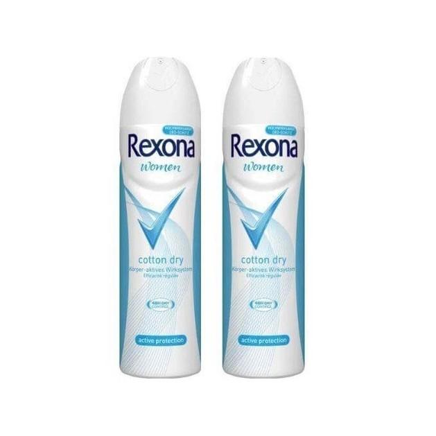 Rexona Spray Αποσμητικό Cotton 2x150ml Πακέτο 1+1