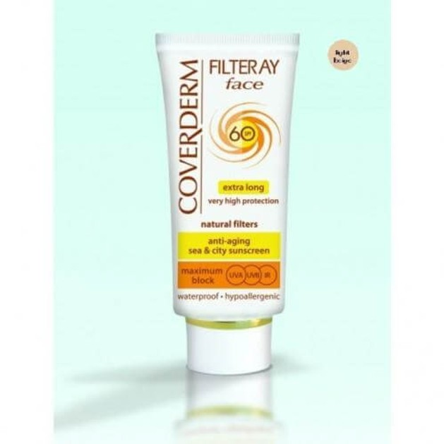 Coverderm Filteray Face Extra Long Cream Tinted Light Beige Spf60 50ml