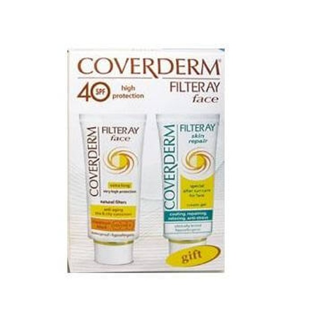 Coverderm Filteray Face Spf40 και Δώρο After Sun 2x50ml