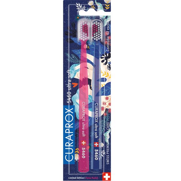 Curaprox Cs 5460 Ultra Soft Οδοντόβουρτσες με Απαλές και Ανθεκτικές Ίνες 2 τμχ