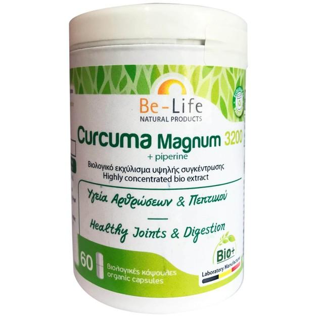 Be-Life Curcuma Magnum 3200 +Piperine Συμπλήρωμα Διατροφής για την Υγεία των Αρθρώσεων & Πεπτικού 60caps