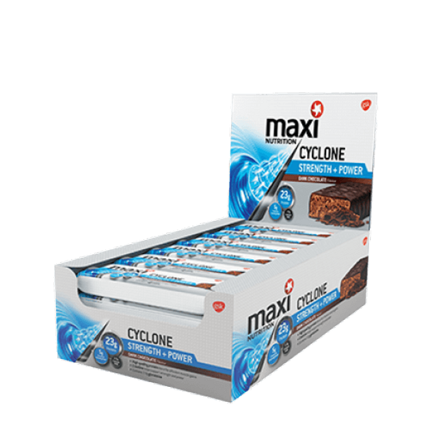 Maximuscle Cyclone Strength Power Bars Μπάρες Πρωτείνης Και Κρεατίνης 12x60