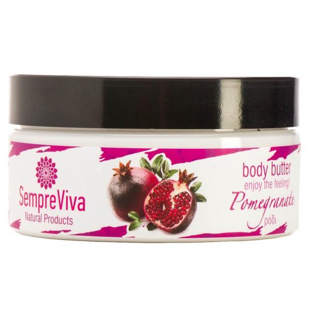 SempreViva Body Butter Pomegranate Κρέμα Σώματος Ρόδι 200g