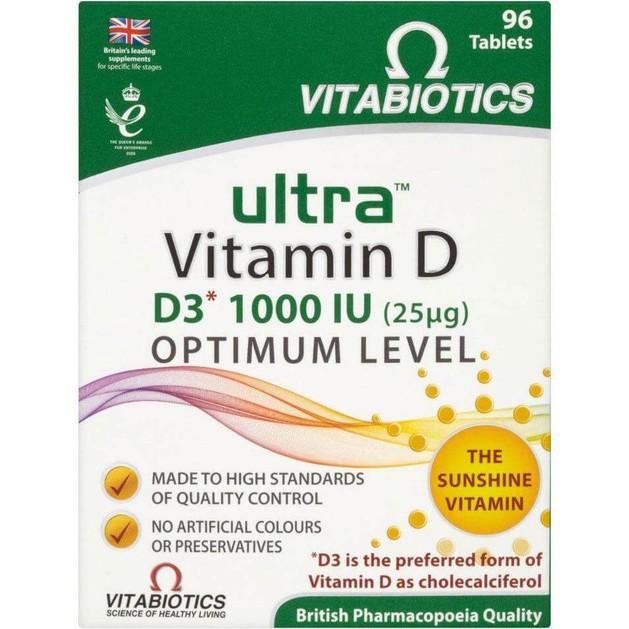 Vitabiotics Ultra-D3 25mg (1000IU) 96tabs