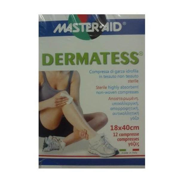 Master Aid Dermatess Αντικολλητικές Γάζες 18x40 12τεμ.