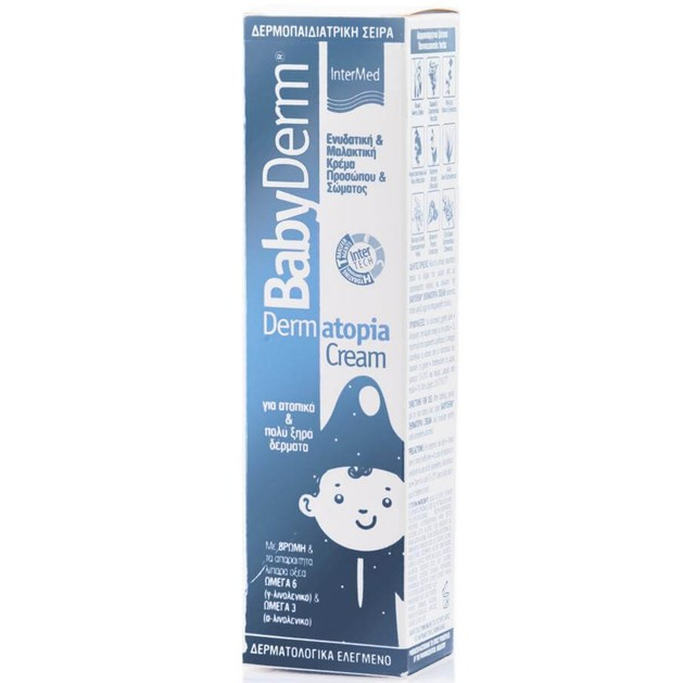 Babyderm Dermatopia Cream Ενυδατική & Μαλακτική Κρέμα Προσώπου Σώματος για Ατοπικά & Πολύ Ξηρά Δέρματα 125ml