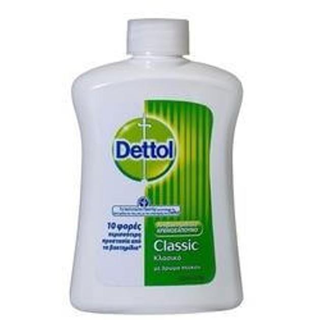 DETTOL Liquid Soap Classic Ανταλλακτικό Αντιβακτηριδιακό Υγρό Κρεμοσάπουνο Κλασικό 250 ml
