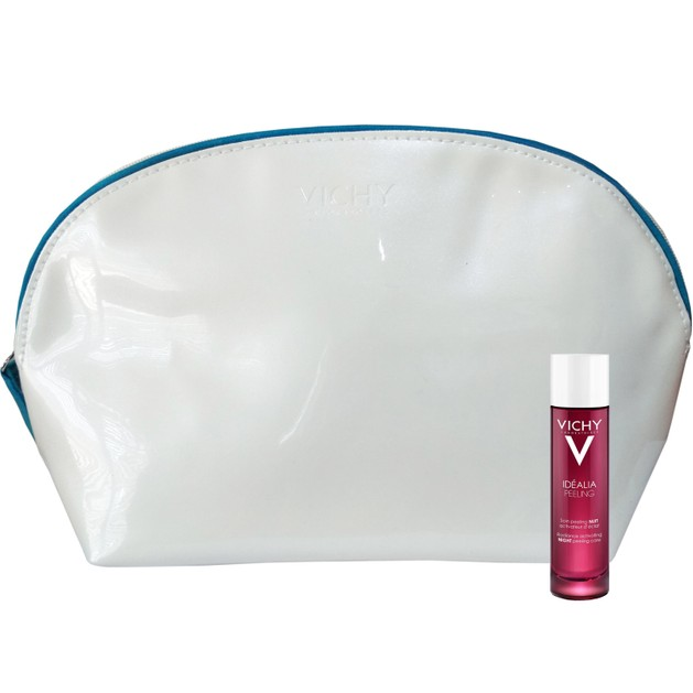 Δώρο Vichy Idealia Peeling Απολέπιση Νυχτός για Λάμψη, Πρώτες Ρυτίδες & Λεπτές Γραμμές 3ml & Vichy Πρακτικό Νεσεσέρ