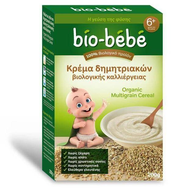 Bio-BebeΚρέμα Δημητριακών Ολικής Άλεσης Βιολογικής Καλλιέργειας Μετά τον 6ο Μήνα 200gr Promo -0,50€ Έκπτωση