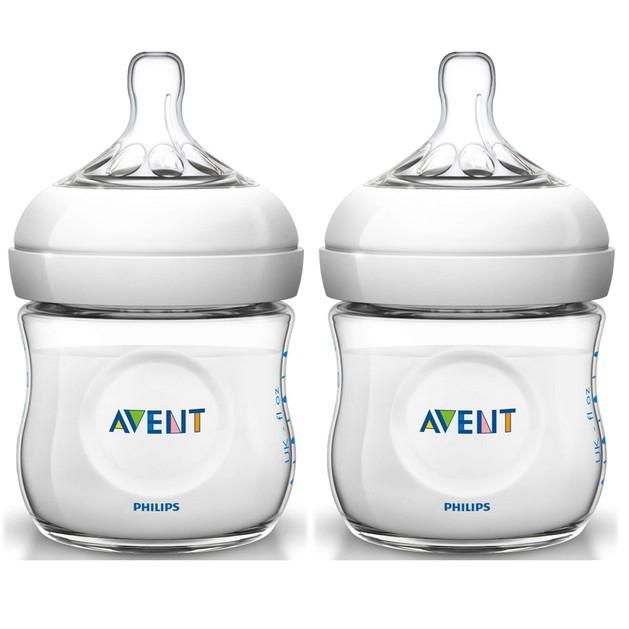 Δώρο Avent Natural Μπιμπερό για Νεογέννητα Πλαστικό Χωρίς BPA 2x125ml