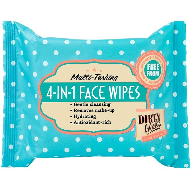 Dirty Works Multi-Tasking 4-in-1 Face Wipes 25τμχ