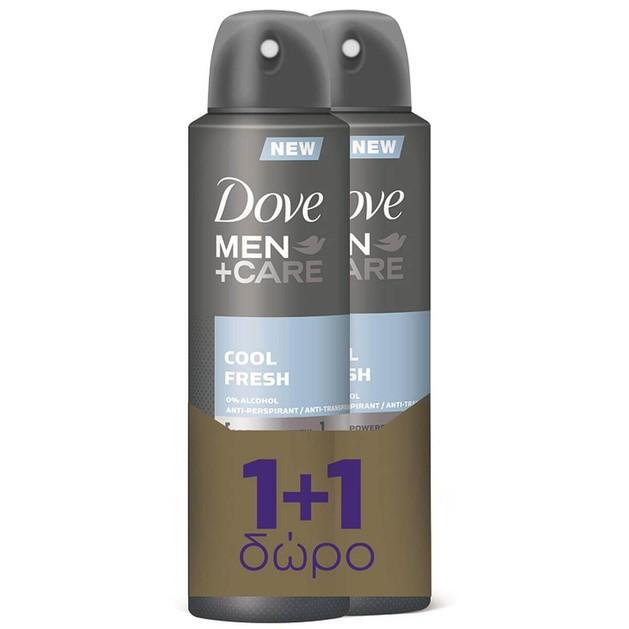 Dove Πακέτο Προσφοράς Men Care Spray Αποσμητικό 48Hours Cool Fresh 150ml 1+1 Δώρο 2 x 150ml