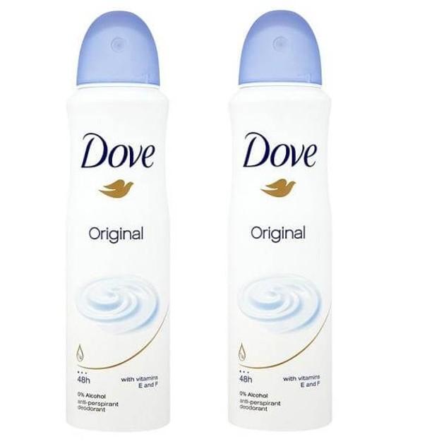Dove Αποσμητικό Spray Original 2 x150ml Πακέτο 1+1