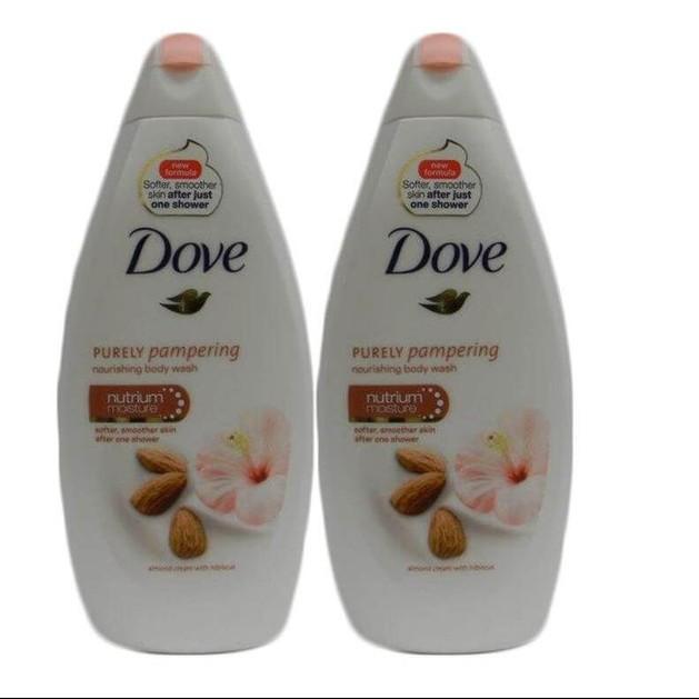Dove Αφρόλουτρο Purely Pampering Almond Κρέμα Αμυγδάλου 2x500ml Πακέτο 1+1