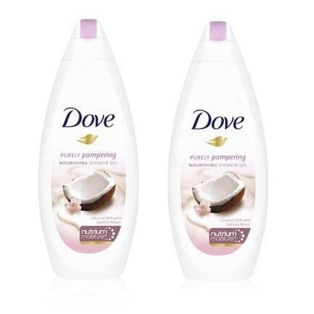 Dove Αφρόλουτρο Coconut Με Γάλα Καρύδας Και Πέταλα Γιασεμιού 2x500ml Πακέτο 1+1