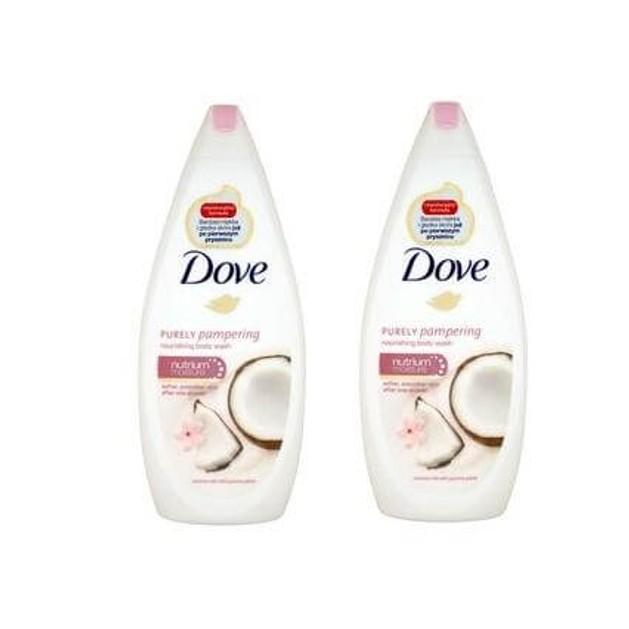 Dove Αφρόλουτρο Coconut Με Γάλα Καρύδας Και Πέταλα Γιασεμιού 2x750ml Πακέτο 1+1