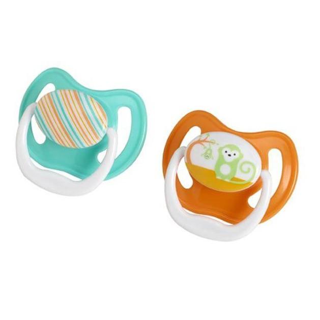 Dr Browns Πιπίλα Σιλικόνης Prevent PV240-GB  6-18 Μηνών Πράσινο Πορτοκαλί 2 Τεμάχια