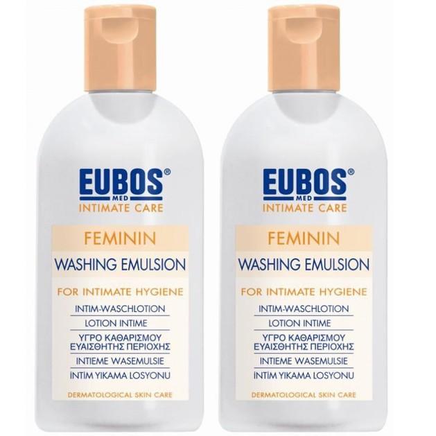 Eubos Feminin Liquid Washing Emulsion Απαλό Υγρό για τον Καθημερινό Καθαρισμό και την Περιποίηση της Ευαίσθητης Περιοχής 2x200ml