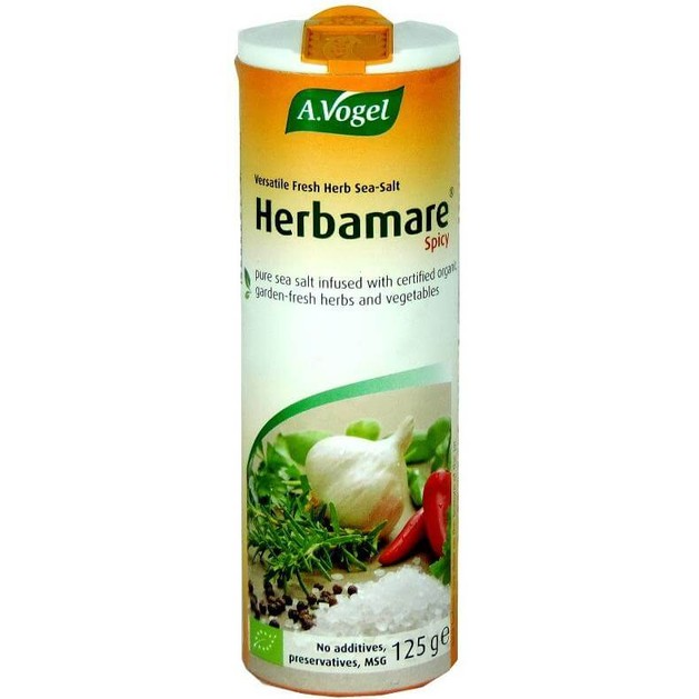 Herbamare Spicy Υποκατάστατο Αλατιού με Τσίλι Χαμηλής Περιεκτικότητας σε Νάτριο, 125gr