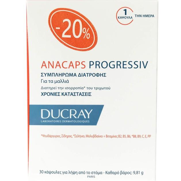 Ducray Anacaps Progressiv 30 Caps Promo -20%