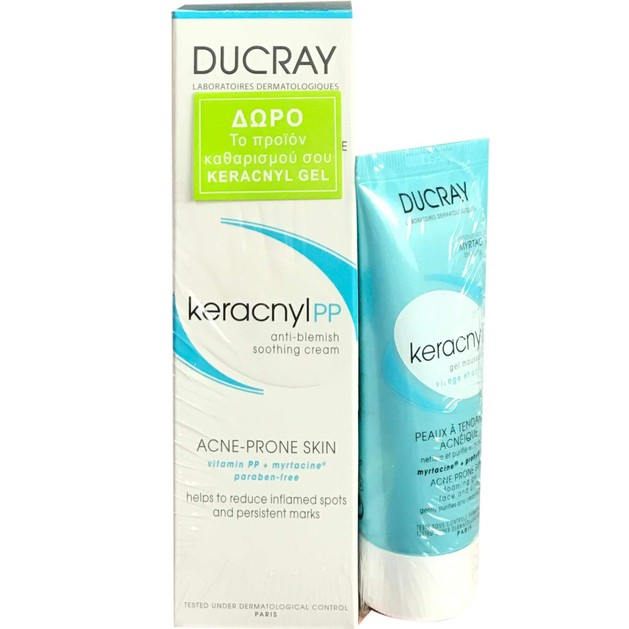 Πακέτο Προσφοράς Keracnyl PP Anti-Blemish Soothing Cream 30ml & Δώρο Gel 40ml - Ducray