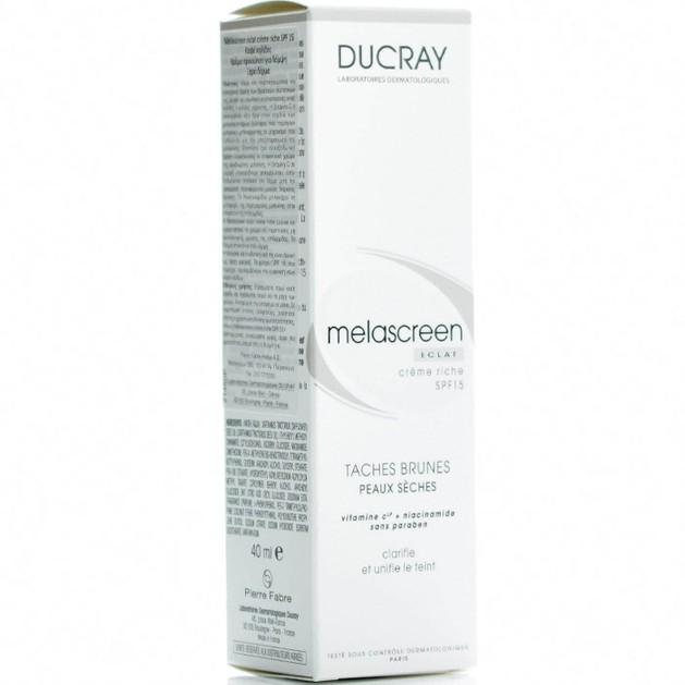 Ducray Melascreen Eclat Creme Rich Spf15, 40ml
