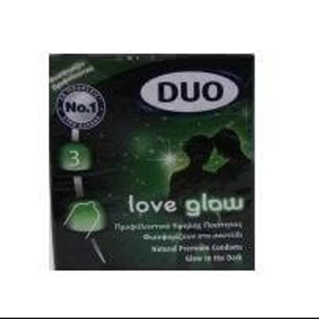Duo Love Glow Φωσφορίζοντα Προφυλακτικά 3τεμ