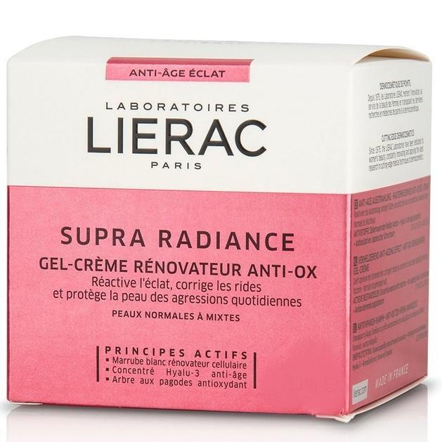 Δώρο Lierac Supra Radiance Gel-Creme Κρέμα Κυτταρικής Ανανέωσης για Κανονικές - Μεικτές Επιδερμίδες 15ml