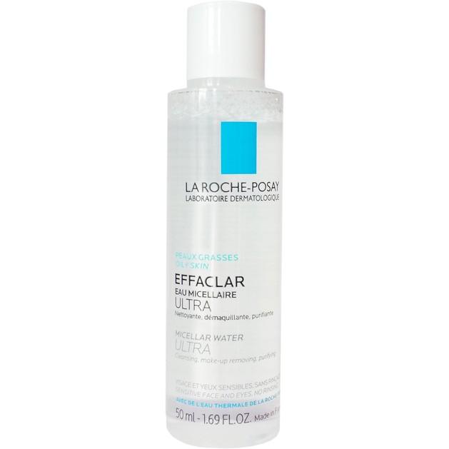 Δώρο La Roche-Posay Effaclar Micellaire Water Ultra Νερό Καθαρισμού και Αφαίρεσης Make-up, Κατάλληλο για το Λιπαρό Δέρμα 50ml