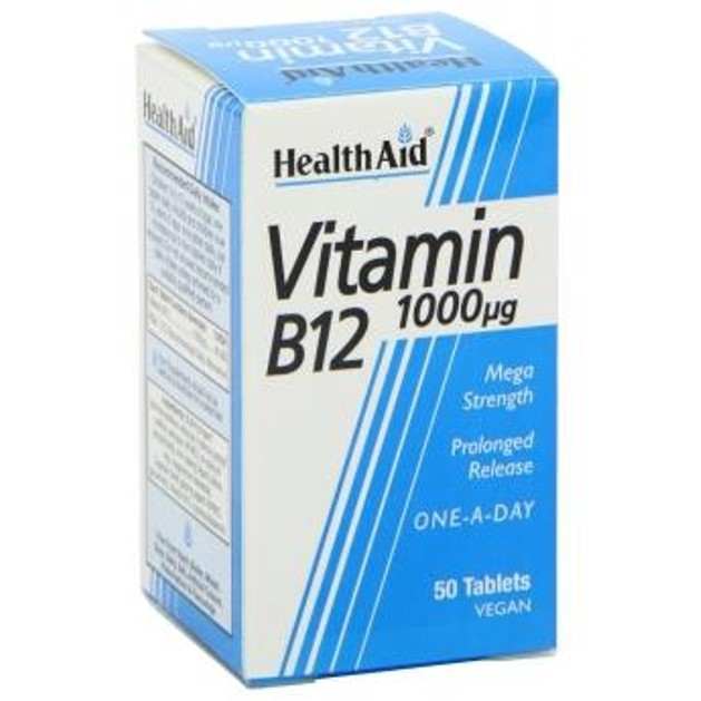 Vitamin B12 1000μg 50tabs - Health Aid