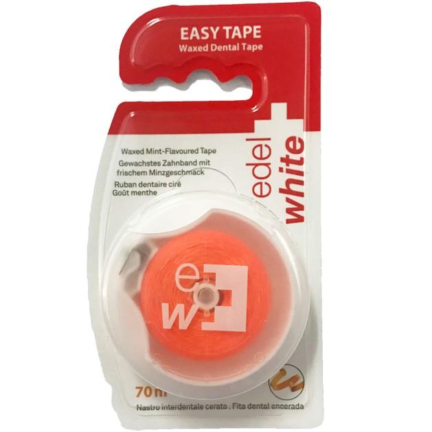 Edel White Easy Tape Κερωμένη Οδοντική Ταινία 70m