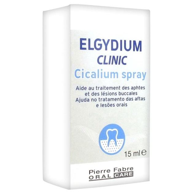Elgydium Clinic Cicalium Spray για Άφθες και Στοματικές Βλάβες 15ml