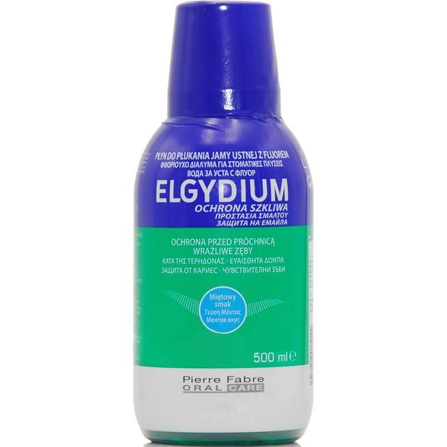 Elgydium Fluoride Mouthwash Στοματικό Διάλυμα για Ευαίσθητα Δόντιαμε Γεύση Μέντας 500ml