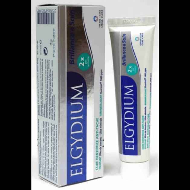 Elgydium Brilliance & Care Pasta 30ml Οδοντόπαστα  Ζελέ Κατά Των Λεκέδων Στα Δόντια