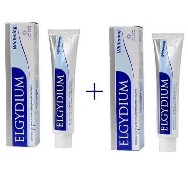 Elgydium Whitening Οδοντόκρεμα Λευκαντική Jumbo 2 x 100ml