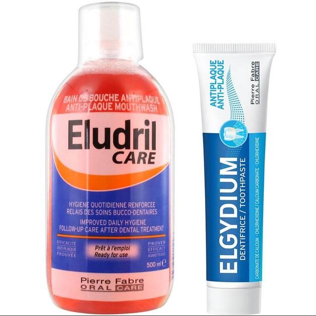 Eludril Care Πακέτο Προσφοράς Στοματικό Διάλυμα κατά της Πλάκας 500ml & Δώρο Elgydium Antiplaque Toothpaste Οδοντόκρεμα 50ml