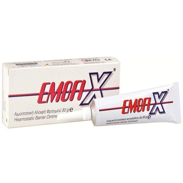 PharmaQ Emofix Αιμοστατική Αλοιφή Φραγμού Κατάλληλη για Πρόληψη & για Θεραπεία Αιμορραγικών Εκδηλώσεων 30gr