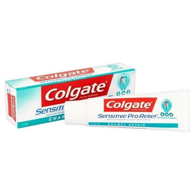 Colgate Sensitive Pro-Relief Enamel Repair Παρέχει Γρήγορη Ανακούφιση Από Τον Πόνο 75ml