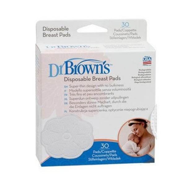 Dr. Brown\'s 4017-GB Επιθέματα Στήθους Μίας Χρήσης 30 τεμάχια