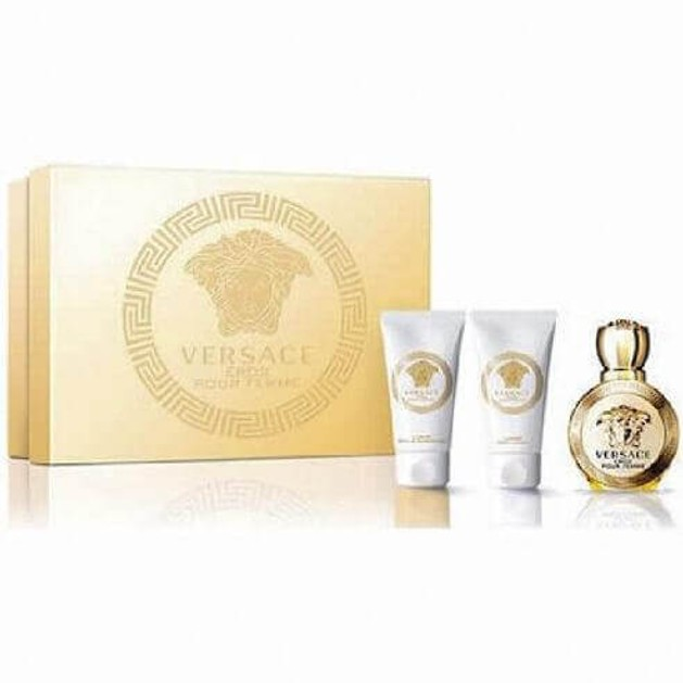 Versace Eros Pour Femme Set Eau De Parfum 50ml+Body Lotion 50ml +Bath Shower