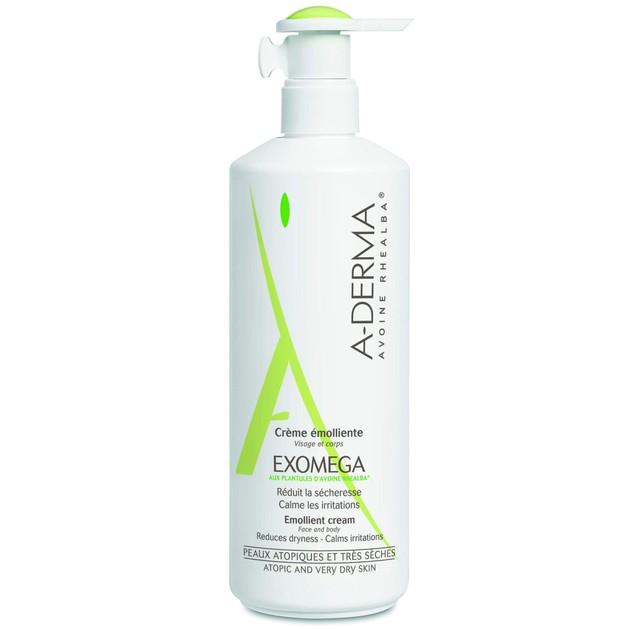 A-Derma Exomega Creme Emolliente Μαλακτική Φροντίδα για Ατοπικό-Πολύ Ξηρό Δέρμα, Βρέφη, Παιδιά, Ενήλικες Promo -15% 400ml