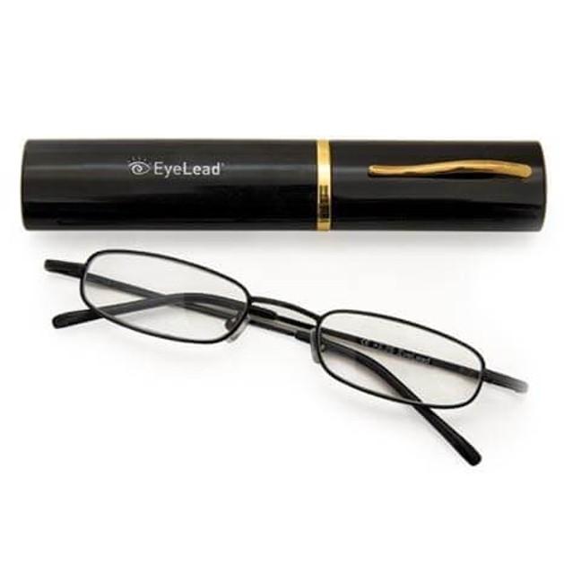 Eyelead Pocket Γυαλιά Διαβάσματος Τσέπης Μεταλλικό Μαύρο Χρώμα Περιλαμβάνεται Θήκη 1.25