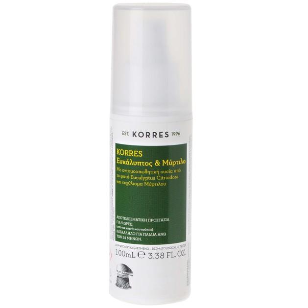 Korres Ευκάλυπτος & Μύρτιλο Εντομοαπωθητικό Spray για Κουνούπια 100ml
